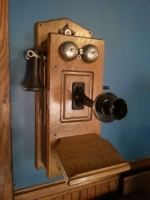 Telephone. Made by Leich Electric Co., Genoa, IL from 1910-1927.