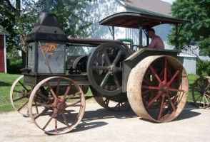 Advance-Rumely OilPull, model G, 20/40 farm tractor, donated by Robert Forbess.